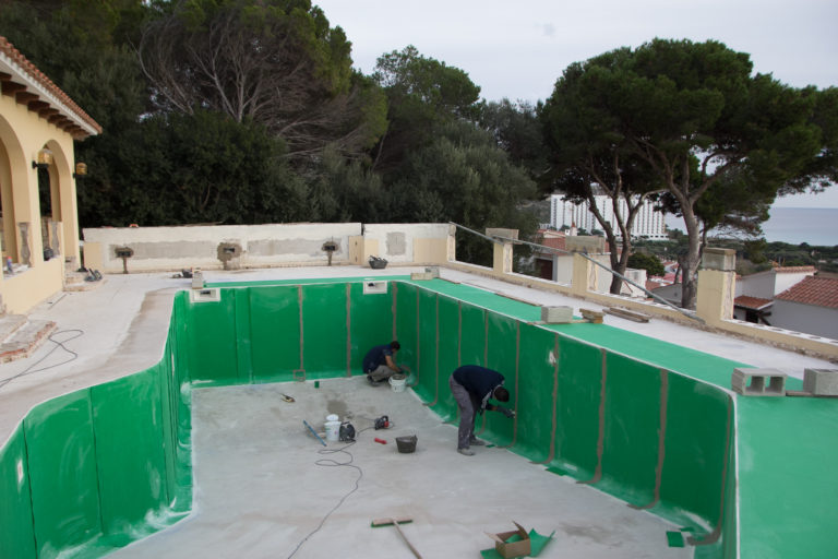 impermeabilizar piscina de gresite